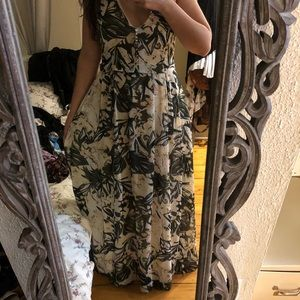 H and m floral maxi dress